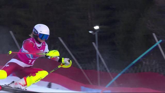 Diablerets (SUI), 2e manche slalom dames: Volken (SUI) remporte l'argent [RTS]