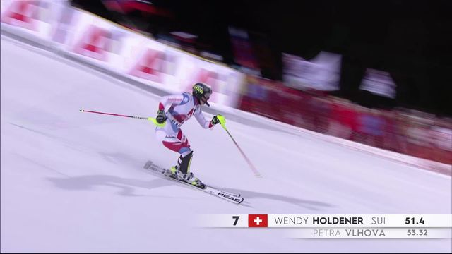 Flachau (AUT), slalom dames, 1e manche: Wendy Holdener (SUI) [RTS]
