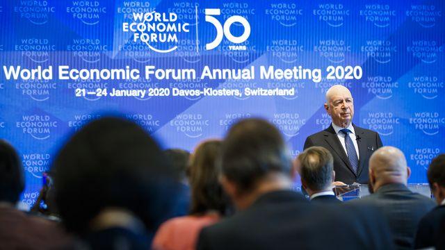 Le 50e Forum économique mondial veut préparer un monde durable. [Valentin Flauraud - Keystone]