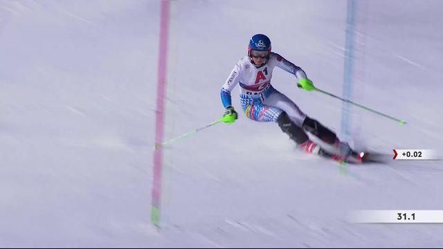Flachau (AUT), slalom dames, 1e manche: Petra Vlhova (SVK) en démonstration en première manche [RTS]