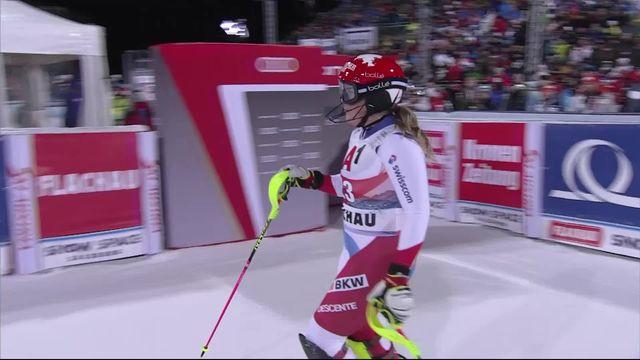 Flachau (AUT), slalom dames, 1e manche: Mélanie Meillard (SUI) [RTS]