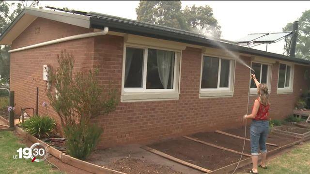 Rencontre d'un couple d'Yverdon-les-Bains durement touché par les incendies en Australie. [RTS]