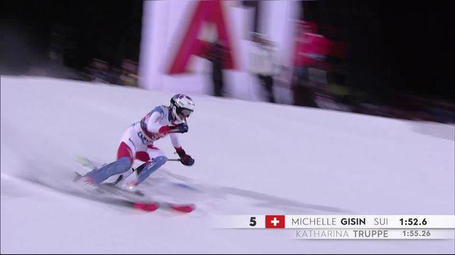 Flachau (AUT), slalom dames: Michelle Gisin (SUI) [RTS]