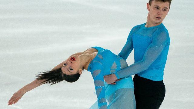 Celina Fradji, patineuse artistique au JOJ. [Jed Leicester  - OIS/IOC / AFP]