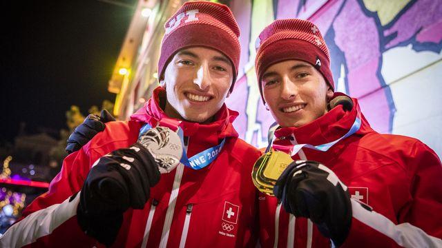 Robin et Thomas Bussard ont récolté 3 médailles dans les JOJ 2020. [Gabriel Monnet - Keystone]