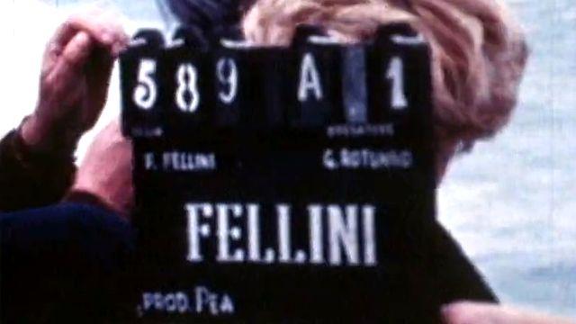 Sur le tournage de Satyricon, aux côtés de Federico Fellini. [RTS]