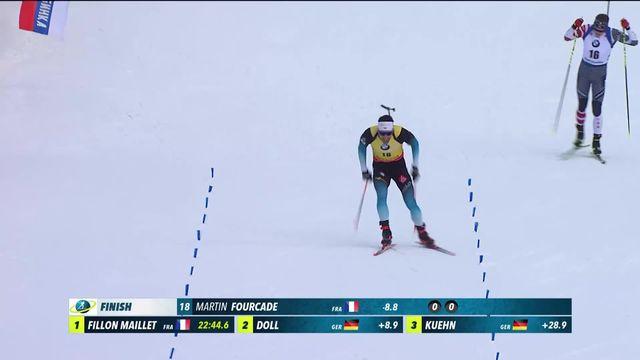 Ruhpolding (GER), sprint messieurs: Martin Fourcade (FRA) s'impose devant Fillon Maillet (FRA) et Doll (GER) [RTS]