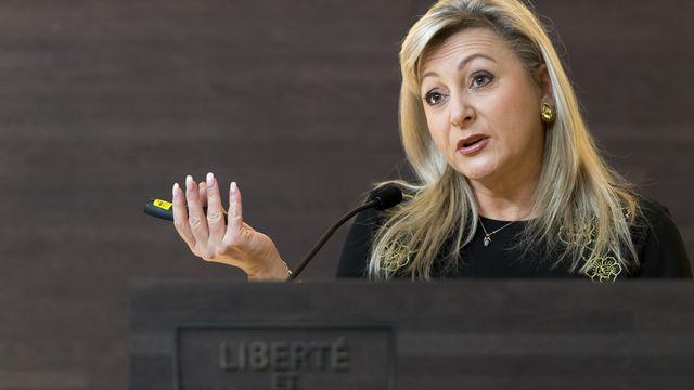 La conseillere d'Etat vaudoise Nuria Gorrite. [Laurent Gillieron - Keystone]