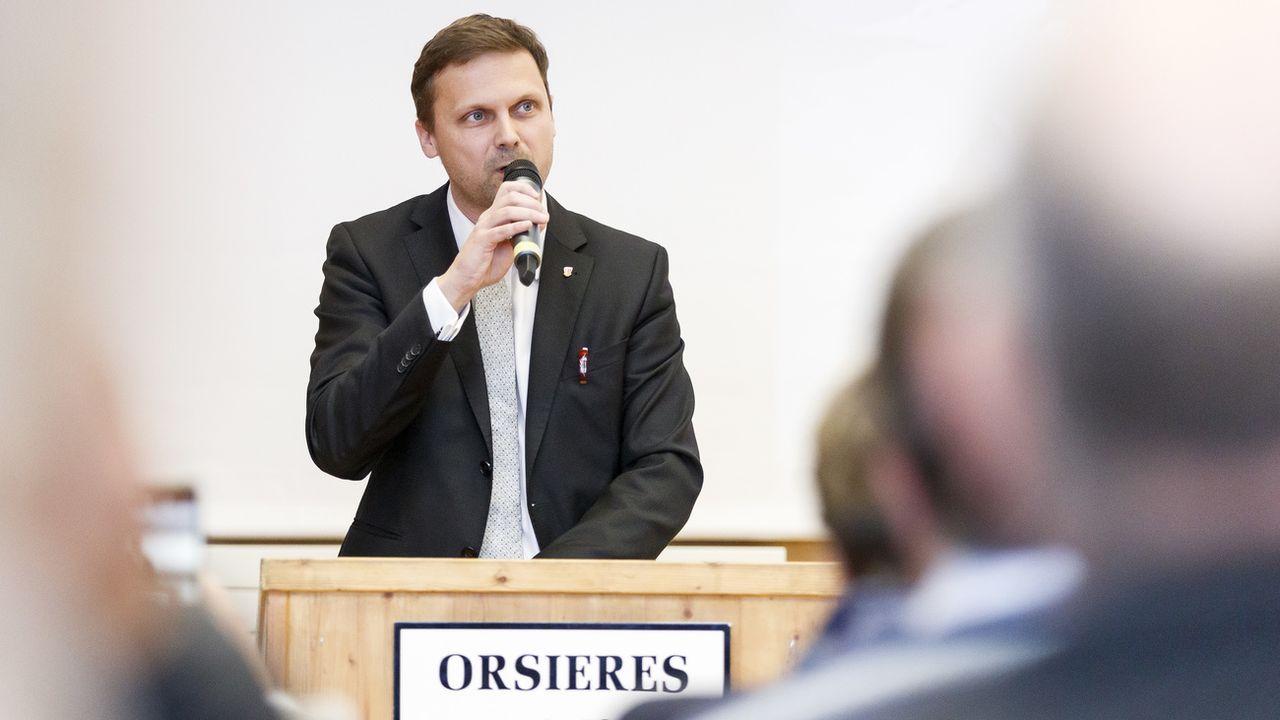 Joachim Rausis va diriger le PDC du Valais romand. [Cyril Zingaro - Keystone]