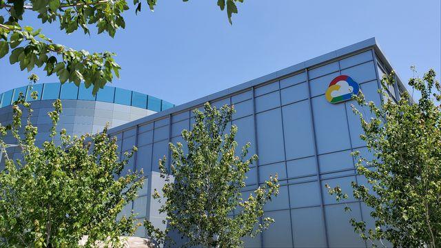 Un des logos de Google dans un complexe de Sunnyvale, en Californie. [Paresh Dave - Reuters]