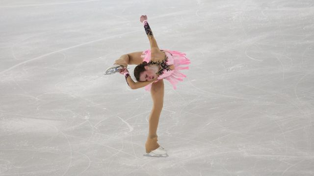 Maïa Mazzara, étoile montante du patinage artistique français. [Dominika Zarzycka - NurPhoto]