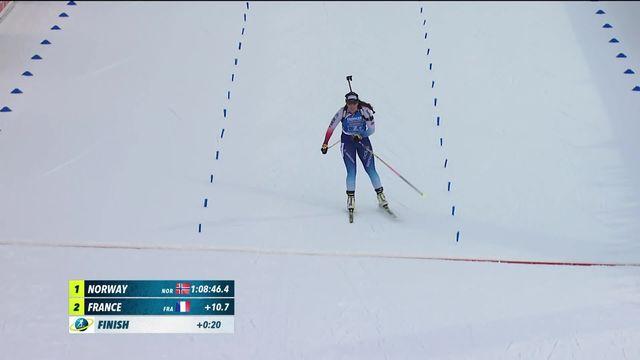 Ruhpolding (GER), relais dames: les Suissesses 3e d'un relais remporté par la Norvège [RTS]