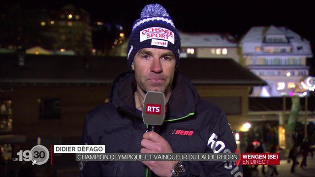 Explications de Didier Défago, champion olympique et vainqueur du Lauberhorn. [RTS]