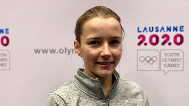 Alexia Turunen pratique le short track depuis 4 ans. [F.Galaud - RTS]