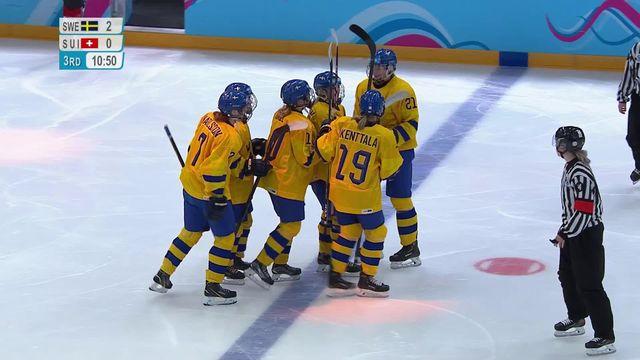 Hockey dames, Suède - Suisse (2-0): les Suissesses joueront pour le bronze [RTS]