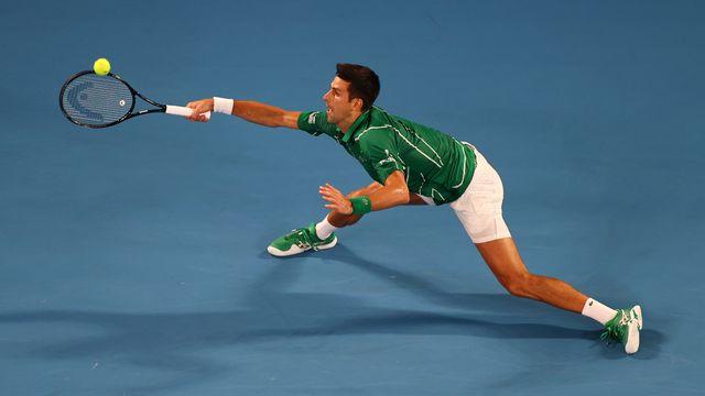 Novak Djokovic a trouvé l'équilibre pour son entrée en lice. [Kai Pfaffenbach - Reuters]