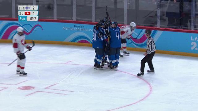 Hockey messieurs, Finlande - Suisse (2-1): fin de parcours frustrante pour les suisses [RTS]