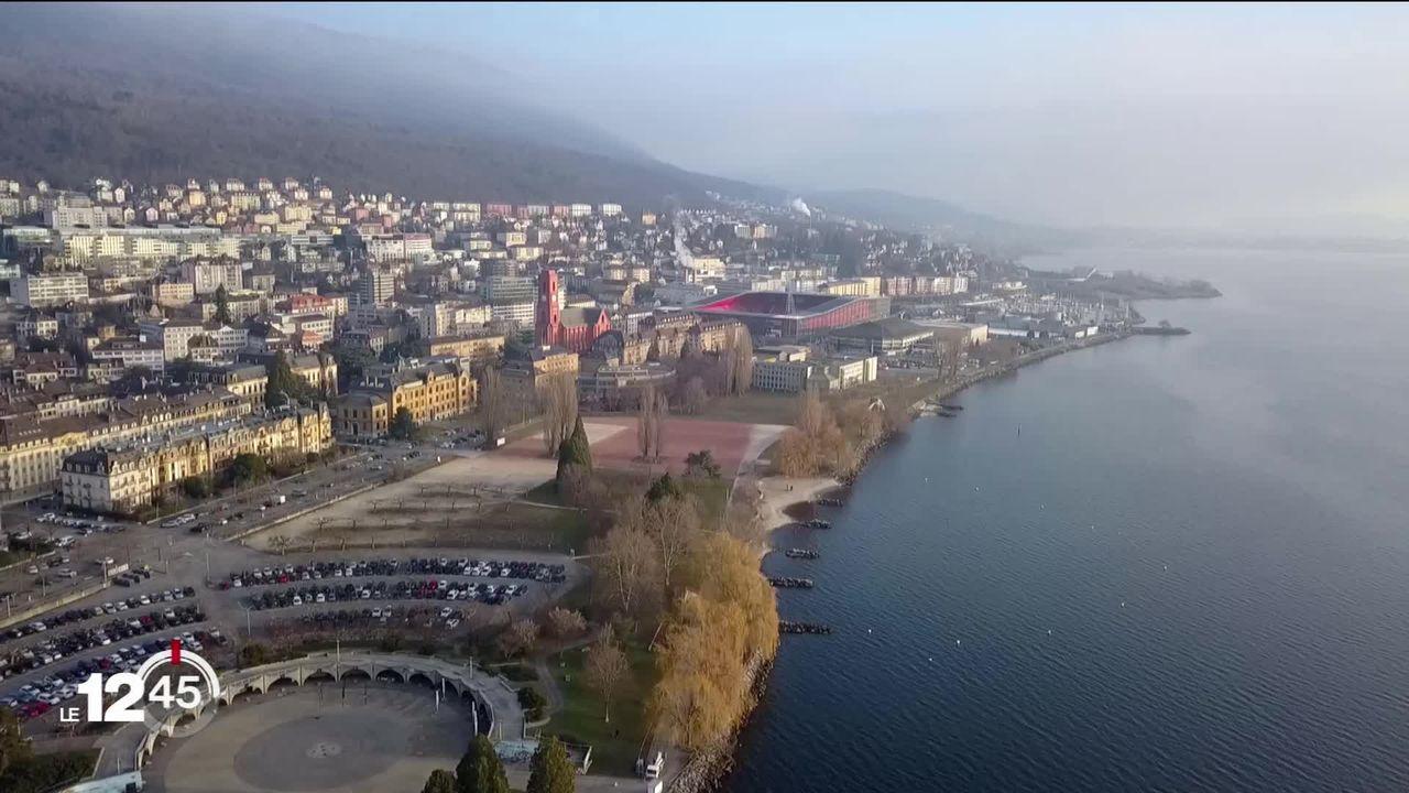 Neuchâtel: projet de réaménagement des Jeunes Rives, un parc urbain sur l'ancien site d'Expo.02. [RTS]