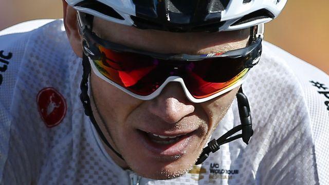 Christopher Froome était réapparu sur un vélo à l'automne, lors d'une exhibition au Japon. [Peter Dejong - AP]