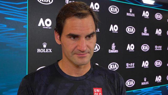 2e tour, F.Krajinovic (SRB) – R.Federer (SUI) (1-6, 4-6, 1-6): interview du Bâlois [RTS]