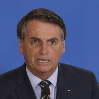 Le président brésilien Jair Bolsonaro a décidé qu'il ne parlerait plus à la presse. [Eraldo Peres - AP Photo]