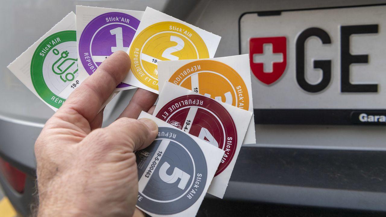 Les détenteurs d'un véhicule de catégorie 5 n'auront pas le droit de circuler à Genève jeudi [Martial Trezzini - Keystone]