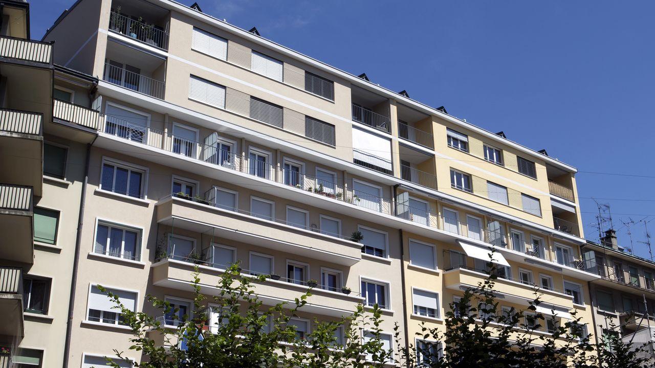 Un immeuble à Genève. [Salvatore Di Nolfi - Keystone]