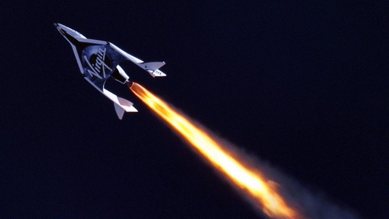 Le vaisseau SpaceShipTwo de Virgin Galactic emmènera des touristes dans l'espace. [Mark Greenberg - AFP]