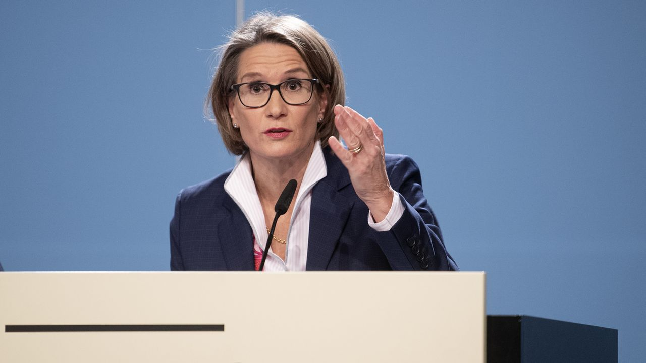 Andrea Maechler, membre de la direction de la BNS. [Marcel Bieri - Keystone]