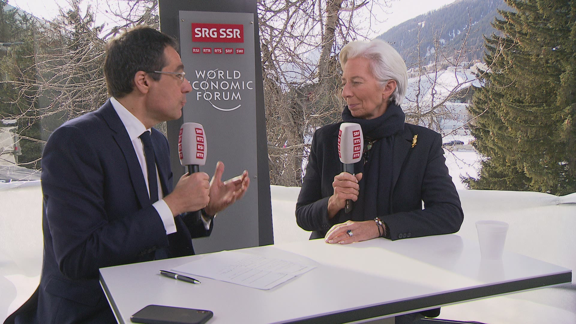 Interview de Christine Lagarde au Forum de Davos.