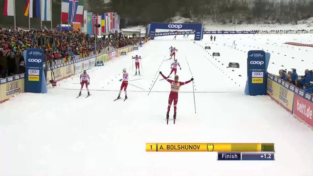 Oberstdorf (GER), Skiathlon messieurs: Bolshunov (RUS) devance les norvégiens et s'impose [RTS]