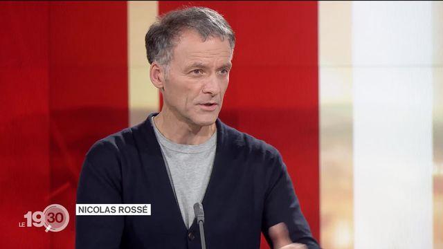 """Nicolas Rossé: """"Beaucoup de cantons suisses s'opposent au développement de la 5G. 20% des antennes suisses sont de la 5G"""". [RTS]"""