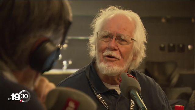 """Le prix Nobel de chimie Jacques Dubochet était à Soleure pour le film qui lui est consacré """"Citoyen Nobel"""". [RTS]"""