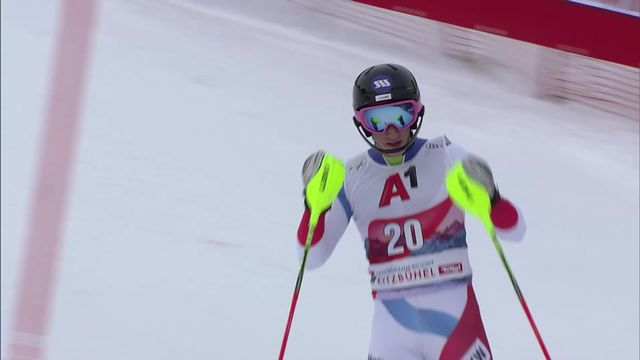 Kitzbühel (AUT), slalom messieurs, 2e manche: Tanguy Nef (SUI) [RTS]
