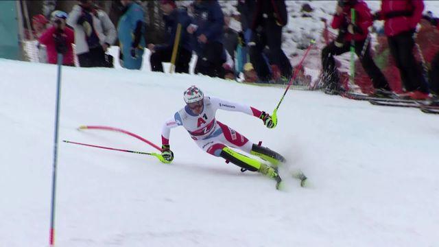 Kitzbühel (AUT), slalom messieurs, 2e manche: Daniel Yule (SUI) [RTS]