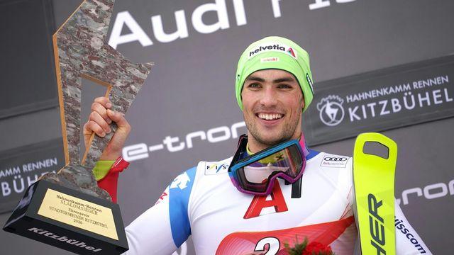 Yule est le premier Suisse à remporter le slalom dans la station autrichienne depuis 52 ans. [Georg Hochmuth - Keystone]