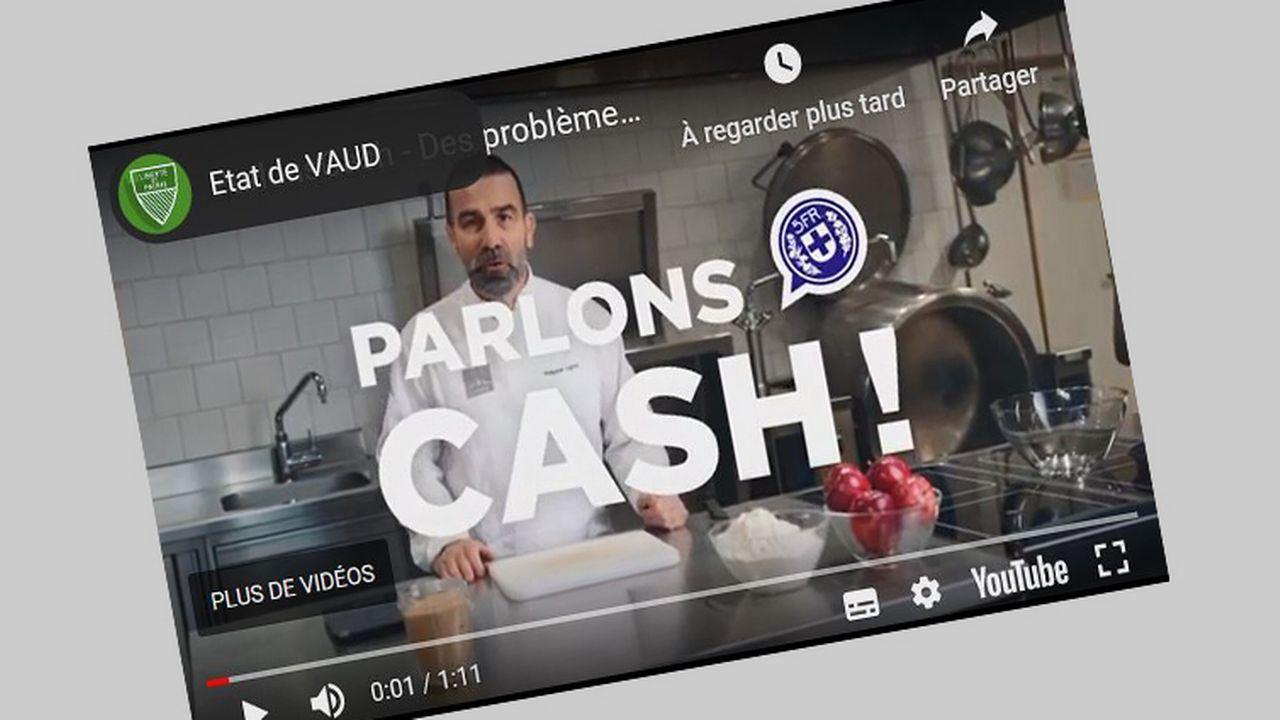"""La campagne """"Parlons Cash!"""" a fait appel au chef cuisinier Philippe Ligron pour expliquer comment éviter de s'endetter. [Etat de Vaud]"""
