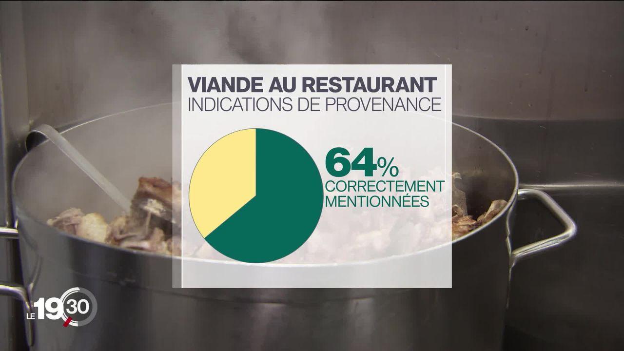 D'où vient la viande que l'on mange au restaurant ? Des informations manquent souvent selon l'enquête de la FRC [RTS]