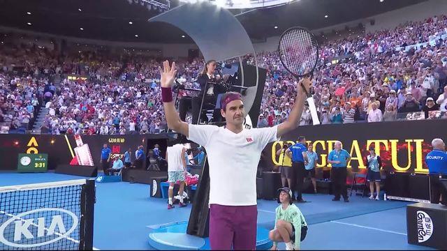Toutes les balles de match sauvées par Federer [RTS]