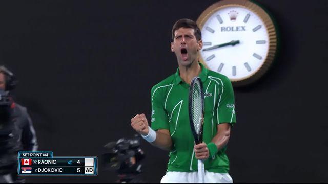 1-4, M.Raonic (CAN) – N.Djokovic (SRB) (4-6, 3-6, 6-7): en ballade, Djokovic rejoint Federer en demi-finale! [RTS]