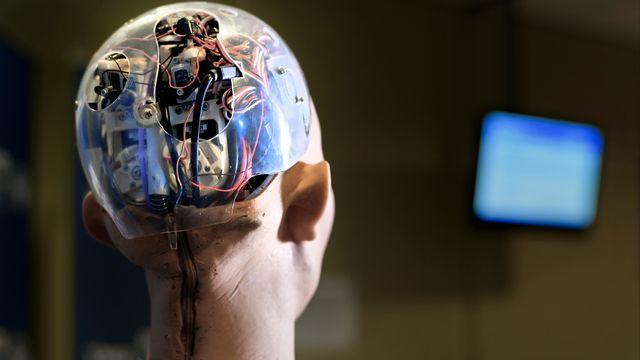 Sophia, une intelligence artificielle développée par une firme de Hong Kong. [Fabrice Coffrini - afp]