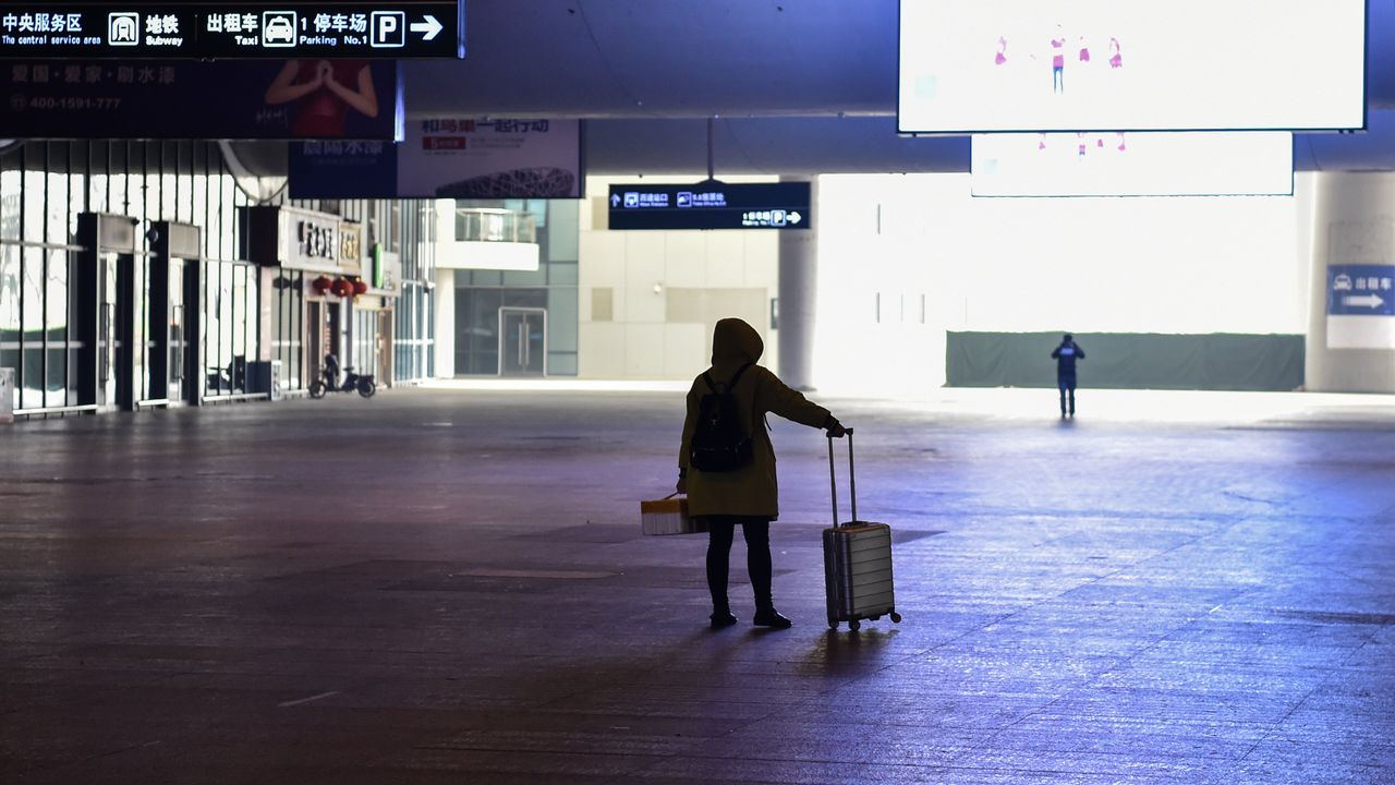 La gare de Wuhan le 23 janvier dernier, désertée par les passagers [Hector Retamal - AFP]