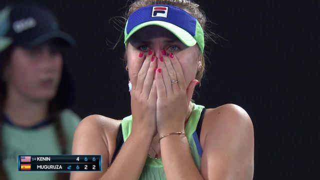 Finale dames, S. Kenin (USA) - G. Muguruza (ESP) (4-6, 6-2, 6-2): l'Américaine remporte son premier titre du Grand Chelem à 21 ans! [RTS]