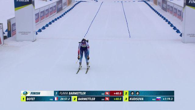 Lenzerheide (SUI), sprint dames: victoire de Botet (FRA), Barmettler (SUI) monte sur la 3e marche du podium [RTS]