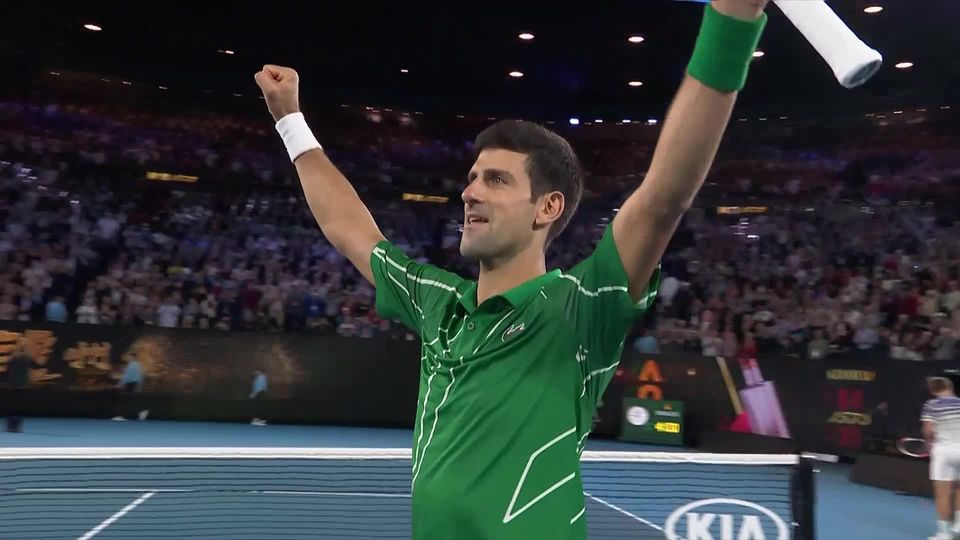 Finale, D. Thiem (AUT) - N. Djokovic (SRB) 4-6 6-4 6-2 3-6 4-6: Novak Djokovic remporte son 17e titre du Grand Chelem [RTS]