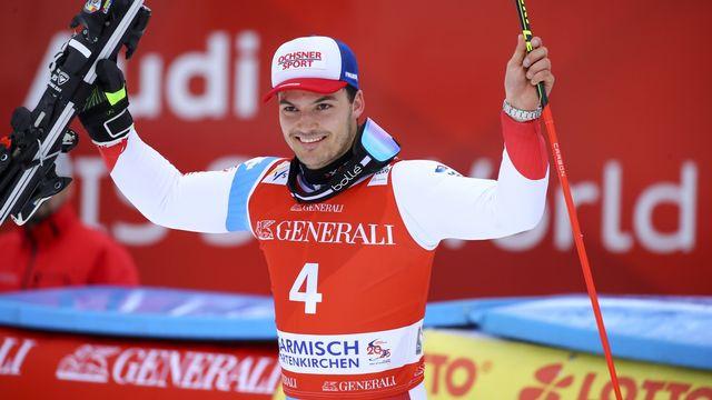 Loïc Meillard grimpe sur un 4e podium. Joli! [Marco Trovati - Keystone]