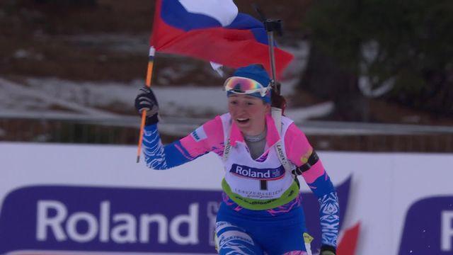 Lenzerheide (SUI), poursuite 10km dames junior: victoire de Shevchenko (RUS) [RTS]
