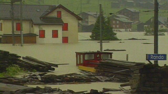 Inondation à Randa [RTS]