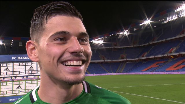 Super League: André Ribeiro (St-Gall), buteur contre Bâle, à l'interview [RTS]