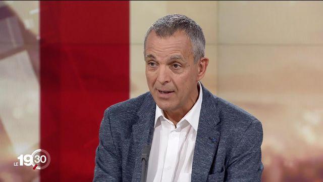 Pierre-Yves Dietrich, chef du département d'oncologie des HUG, commente les chiffres sur le cancer. [RTS]